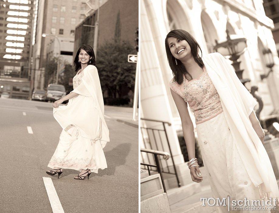 Black and White High School Portraits, Senior Picture Photographer, KC
