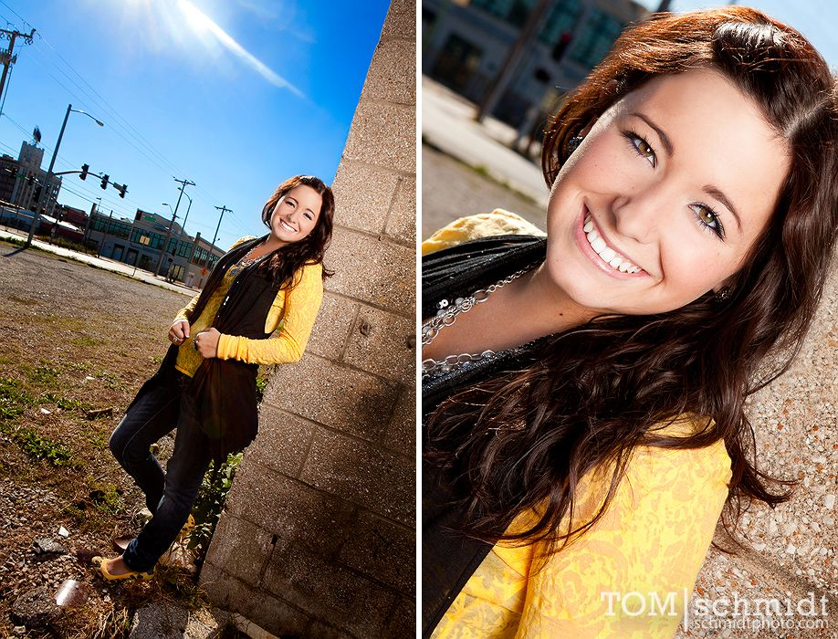 Funky Senior Portraits - Downtown KC - Outdoor Pictures