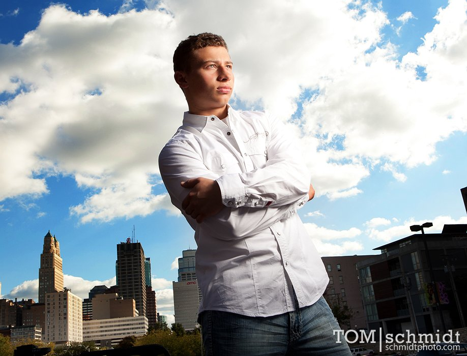 Funky Senior Pictures - Edgy Portraits - Tom Schmidt Photogapher