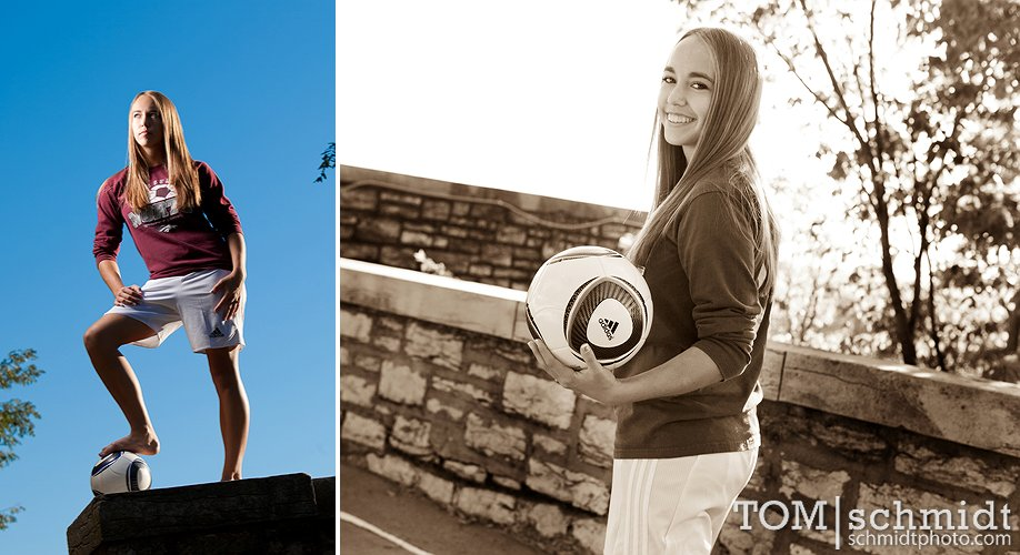 Soccer Photos - Girls Senior Picture Pose Ideas - Senior Shoot Gallery