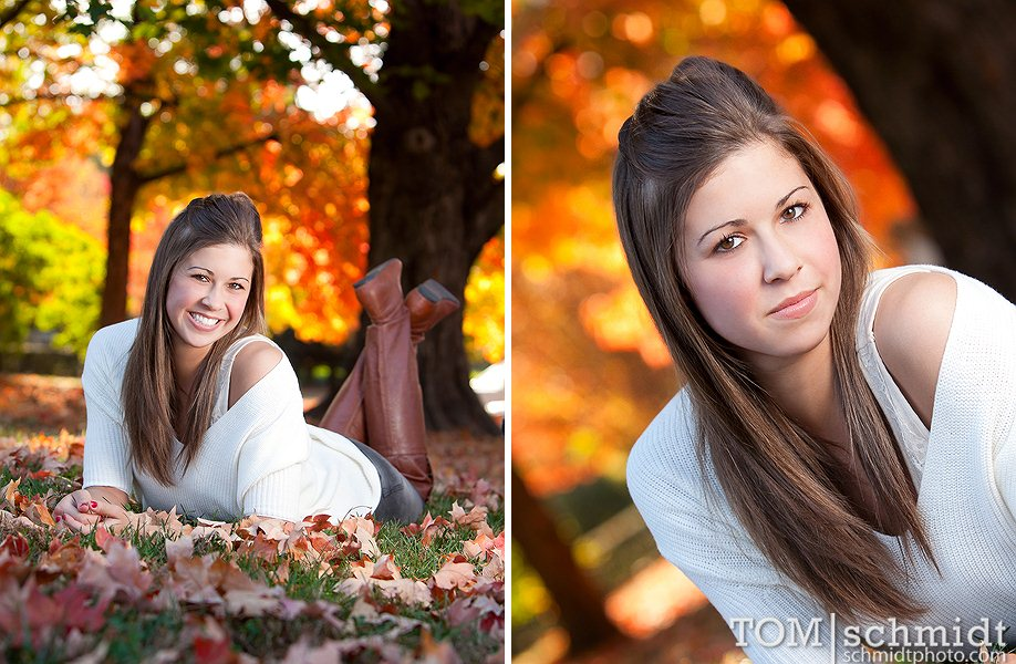 Fall Senior Pictures in Kansas City - Tom Schmidt Photography