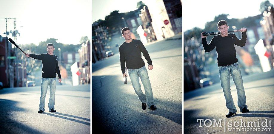 Awesome Guy Senior Shoot Ideas - Baseball Portraits - Rockhurst High School